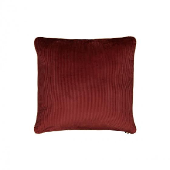 Carino Cushion, Brick Red Velvet