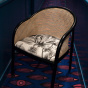 Cavallo Armchair, Pampa Print with Black Lacquered Frame