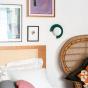Small Mezza Luna Wall Lamp, Green