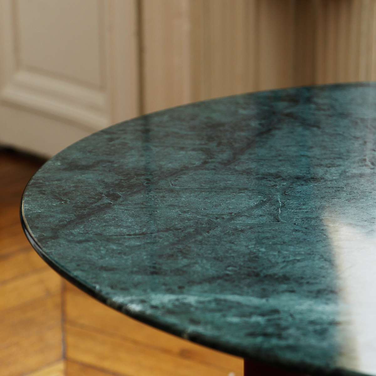 Carlotta Coffee Table Green Marble Top And Black Legs