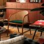 Cavallo Armchair, Fir Green Velvet with Cherrywood Frame