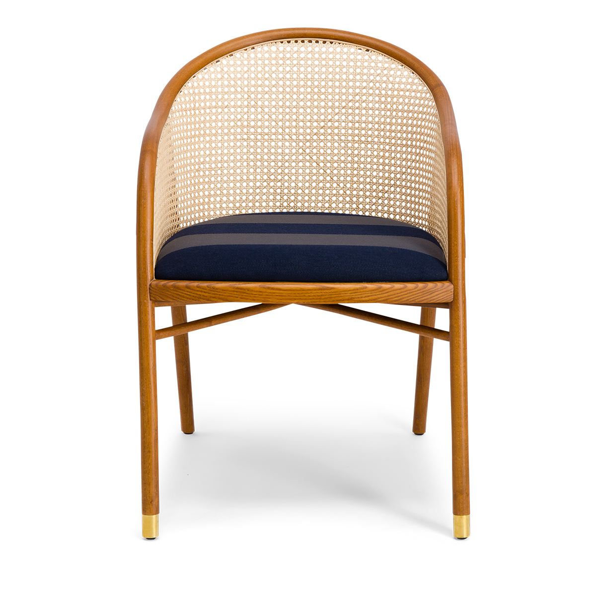 Cavallo Armchair, Kvadrat / Raf Simons Navy Blue Wool with Cherrywood Frame - Limited Edition