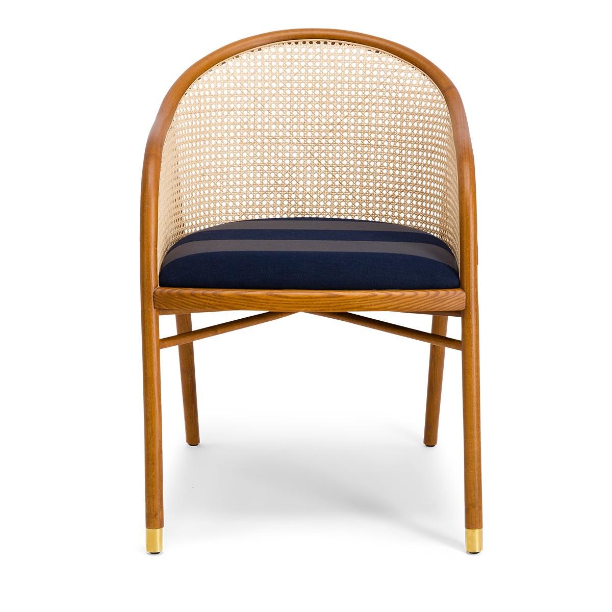 Cavallo Armchair, Kvadrat / Raf Simons Navy Blue Wool with Cherrywood Frame - Limited Edition
