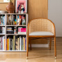Cavallo Armchair, Kvadrat / Raf Simons Cream White Wool with Cherrywood Frame - Limited Edition