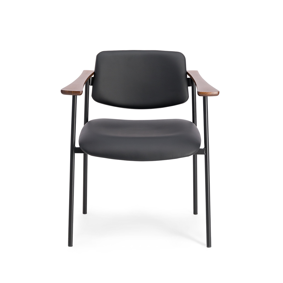Fantastic Pio Armchair Black Leather With Cherrywood Frame Gmtry Best Dining Table And Chair Ideas Images Gmtryco
