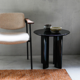 Carlotta Black  Side Table