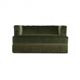Nonna Sofa, Fir Green Velvet