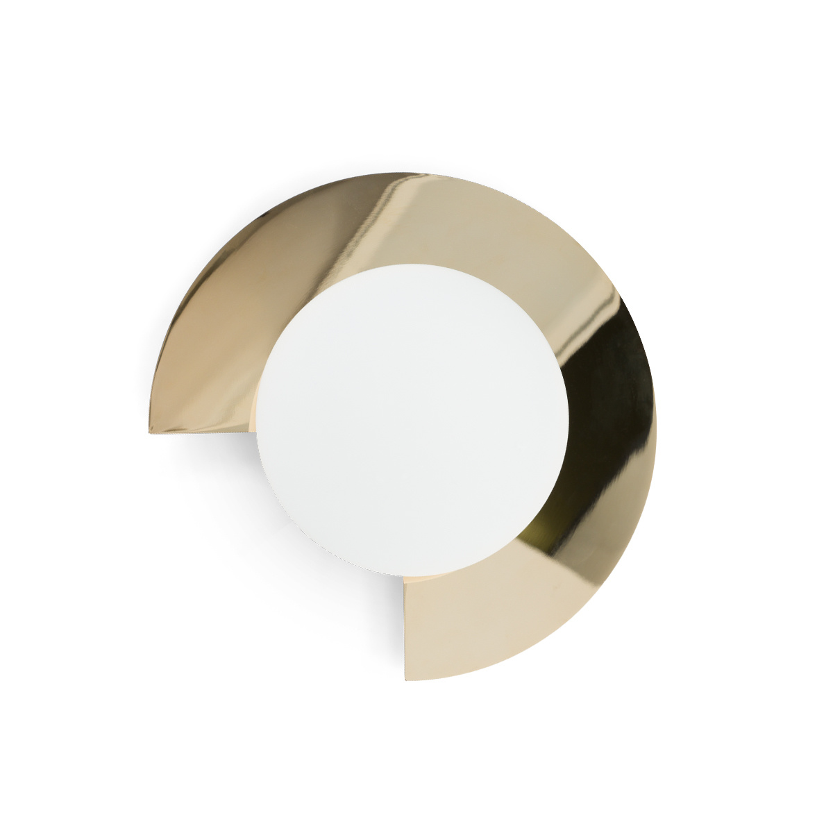 Small Mezza Luna Wall Lamp, Shiny Brass