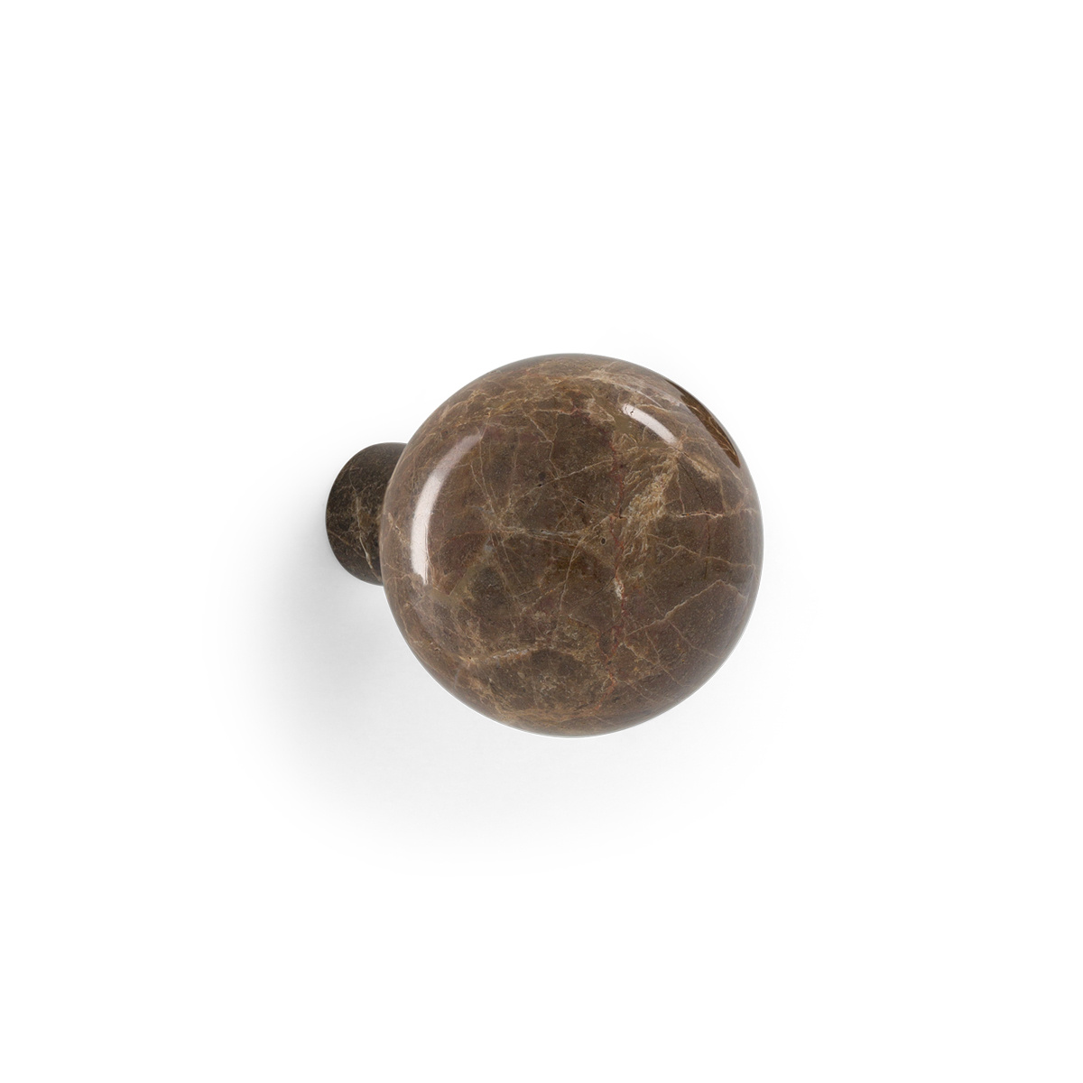 Coat Hook Alma, Brown Marble