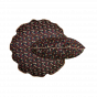 Bomboloni cushion with precious burgundy pattern