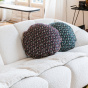 Bomboloni cushion with precious burgundy pattern