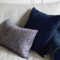 Nonna Cushion Blue Navy Velvet