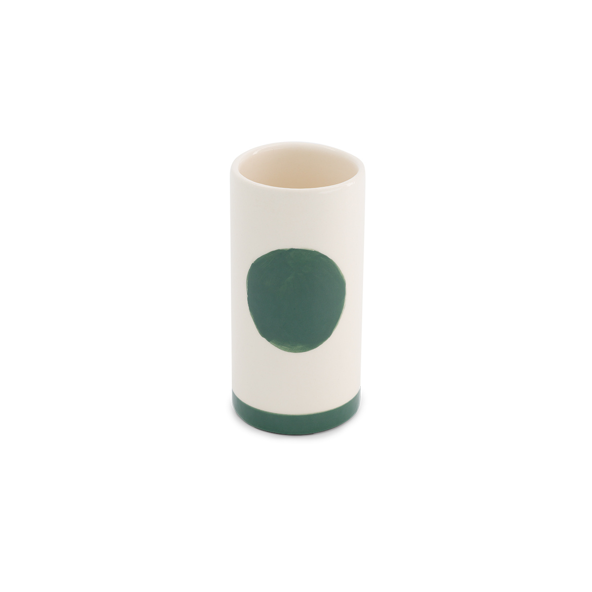 Domino pot small model with green pattern