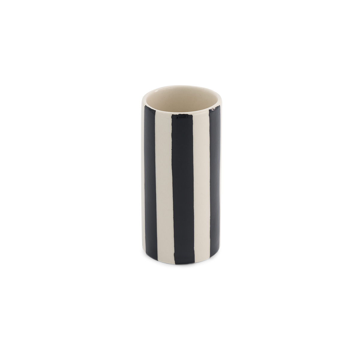Domino pot small model with black pattern
