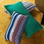 Viaggio Cushion Green and Red print