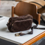 Andrea belt bag in chocolate leather