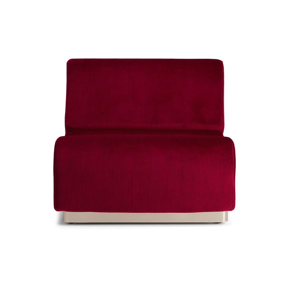 Rotondo Fireside chair in Burgundy Corduroy