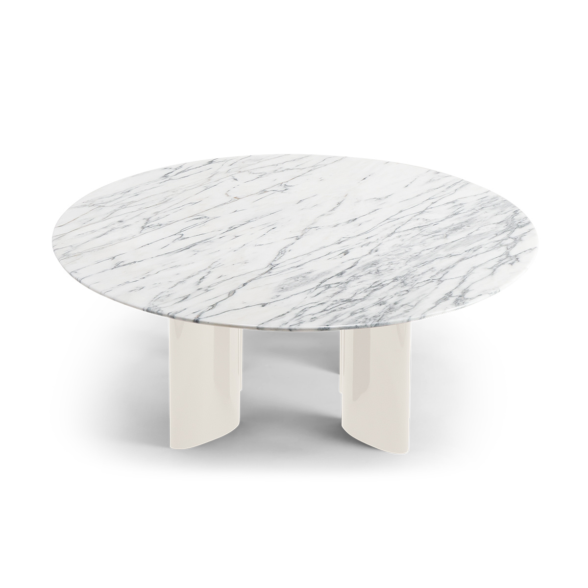 Cream And White Marble Coffee Table Carlotta The Socialite Family