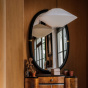 Marcello black lacquered mirror
