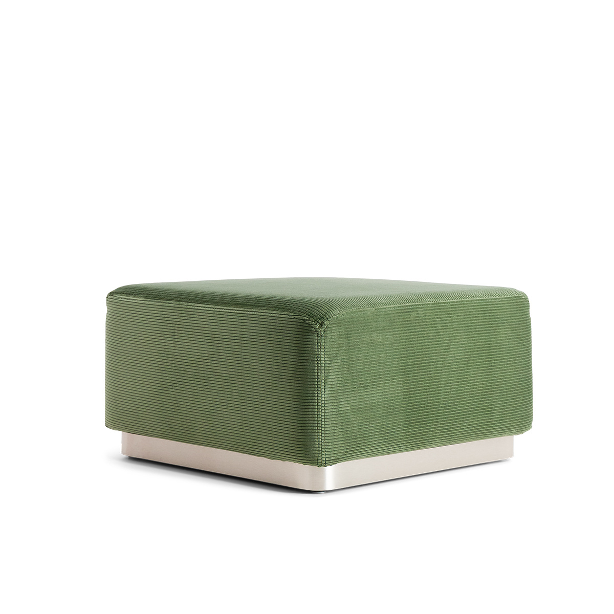 Rotondo Footstool in Almond Green Corduroy