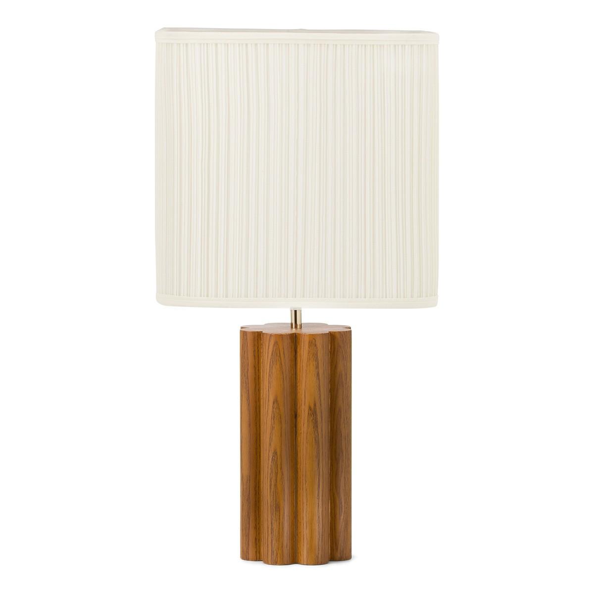 Gioia Table Lamp, Ash Wood with Iroko Finish