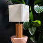 Gioia Table Lamp, Ash Wood with Iroko Finish