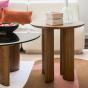Carlotta Ash Wood with Iroko Finsh Side Table