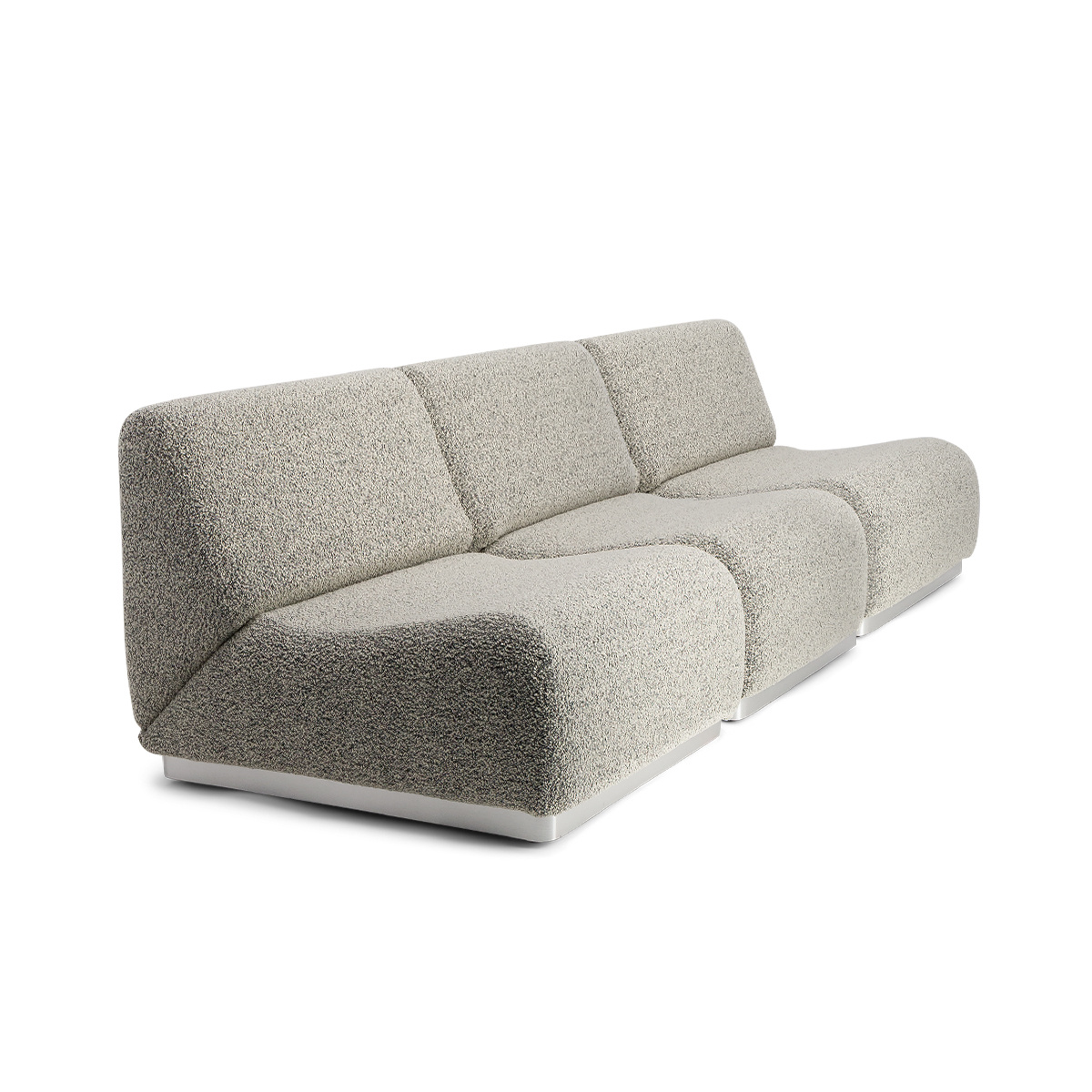 Rotondo Modular Sofa in Black and White Curly Wool