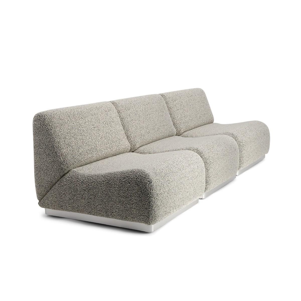 Rotondo Modular Sofa in Black and White Curly Wool