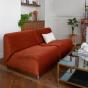 Rotondo Fireside Chair in Terracotta Velvet