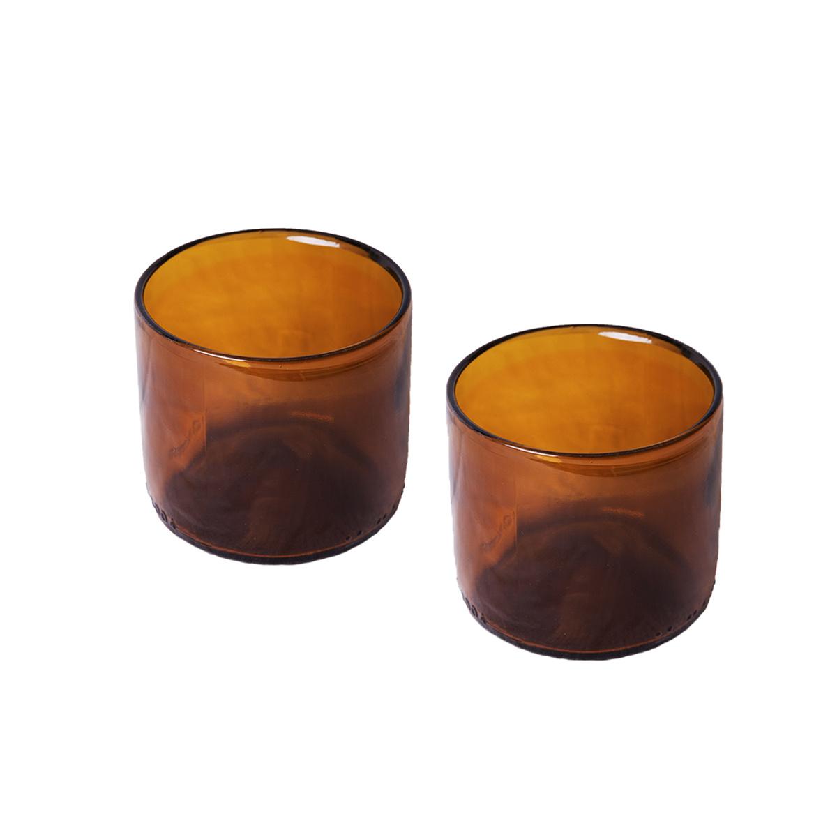 Duo de verre Torino ambre