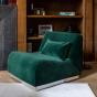 Rotondo Fireside Chair in Fir Green Velvet