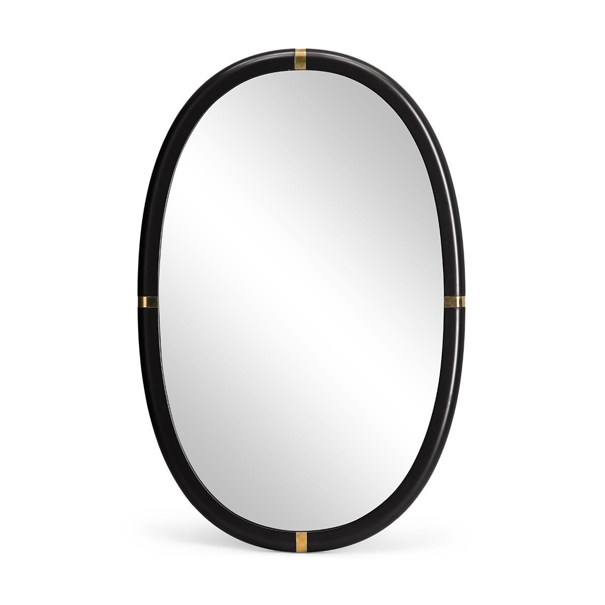 Marcello black lacquered mirror