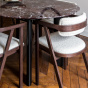 Carlotta Alta Dining Table Red Marble and Black Legs - 4 Seats