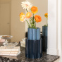 Storm Blue and Dark Blue Duetto Vase