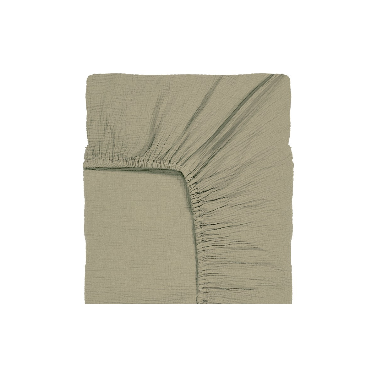 Como Fitted Sheet Water Green