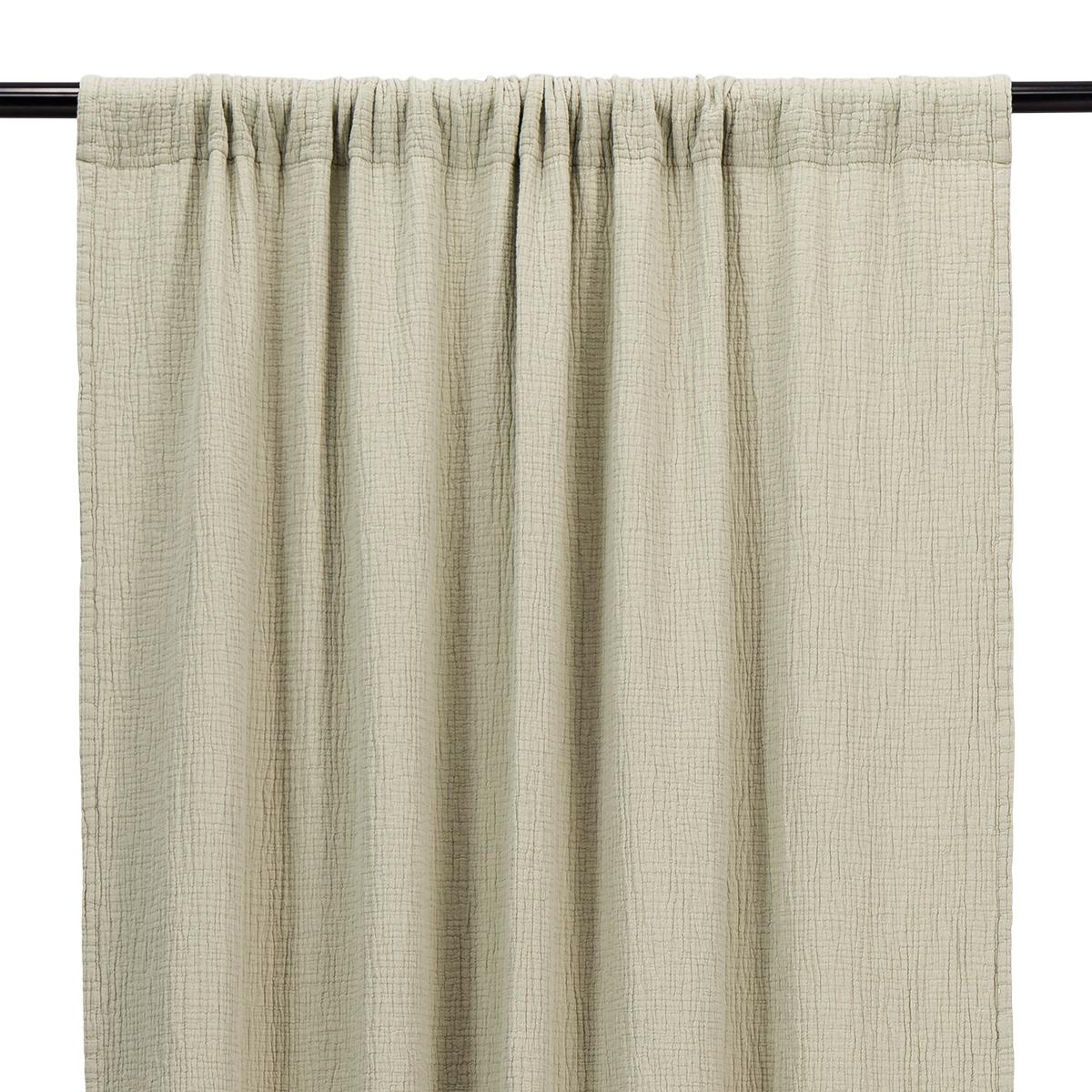 Water Green Cotton Gauze Bambina Curtain