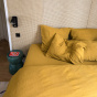 Como Fitted Sheet Mustard