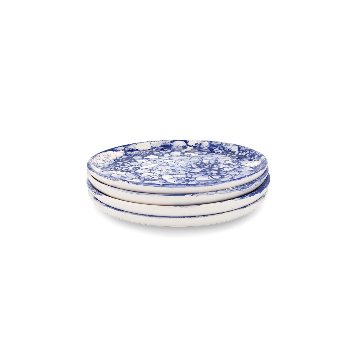 4 Blue Bolle Desert Plates