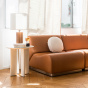 Rotondo Fireside chair in Camel Leather