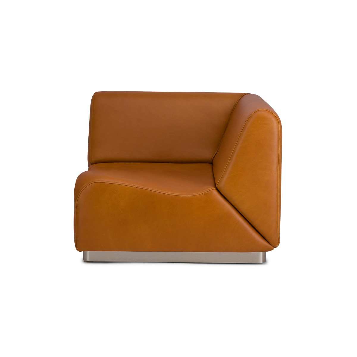 Rotondo Corner Module in Camel Leather