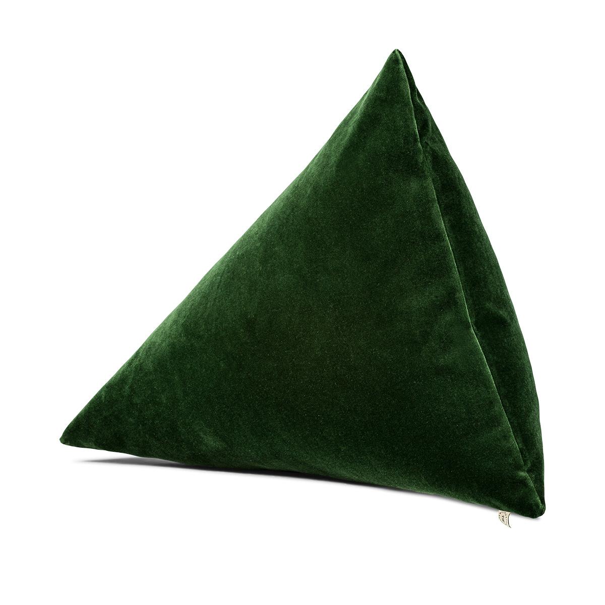 Coussin Divino velours vert sapin