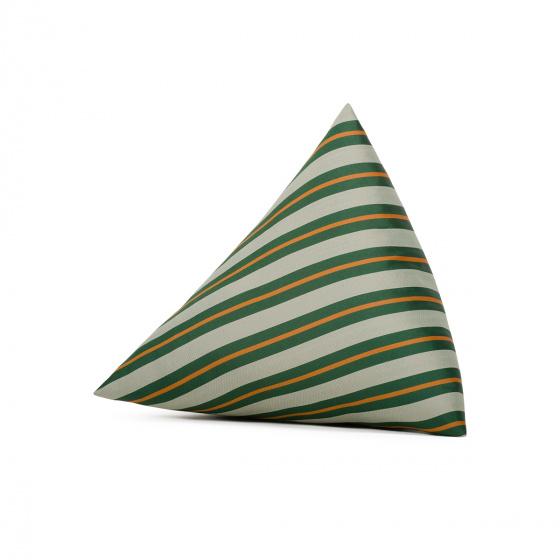 Coussin Divino imprimé rayé vert