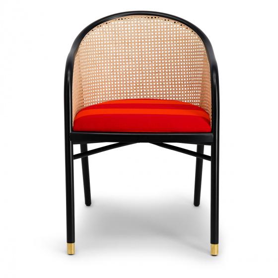 Fauteuil Cavallo noir Kvadrat/Raf Simons orange