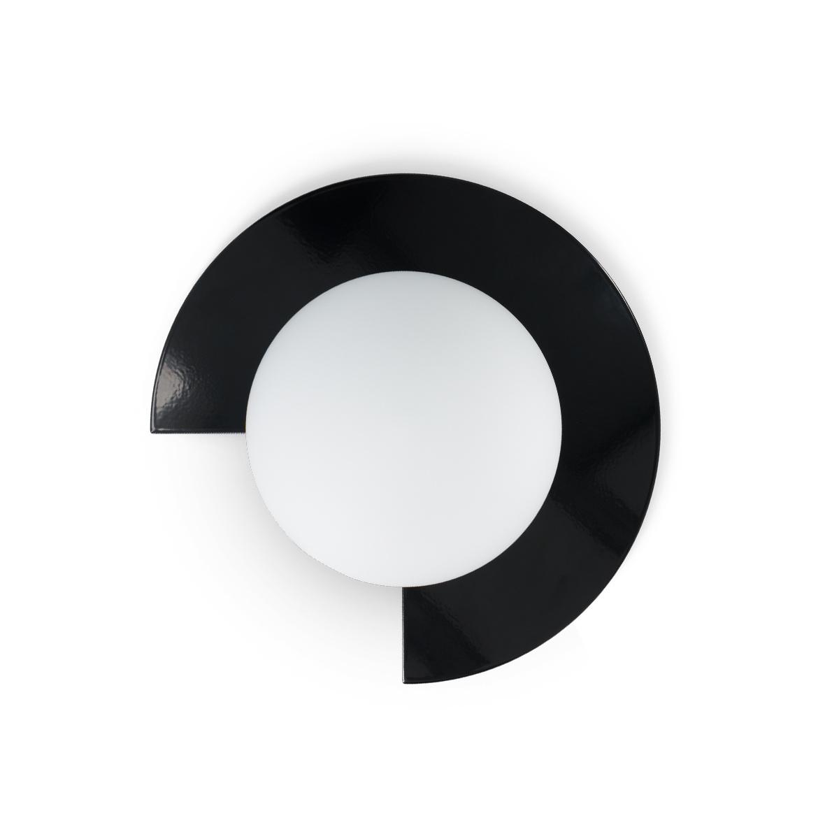 Applique Mezza Luna laqué noir