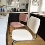 Chaise de bar Classica feutre rose poudré