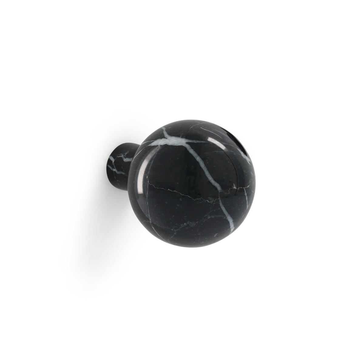 Patère Alma marbre noir