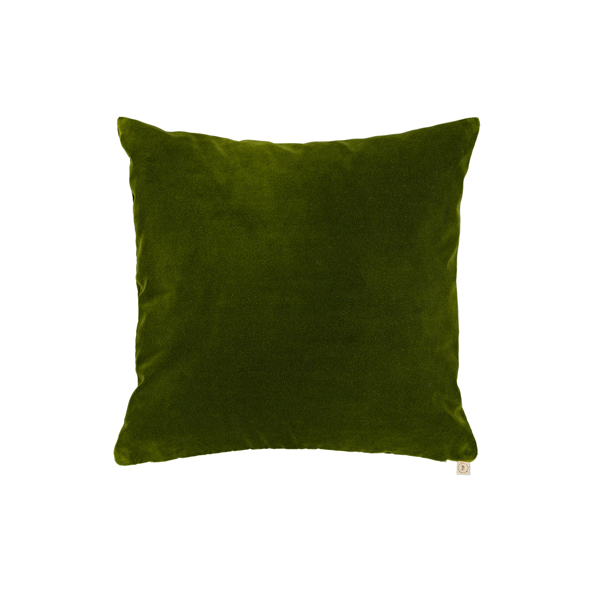 Coussin Nonna velours vert sapin