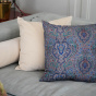 Coussin Carino velours beige