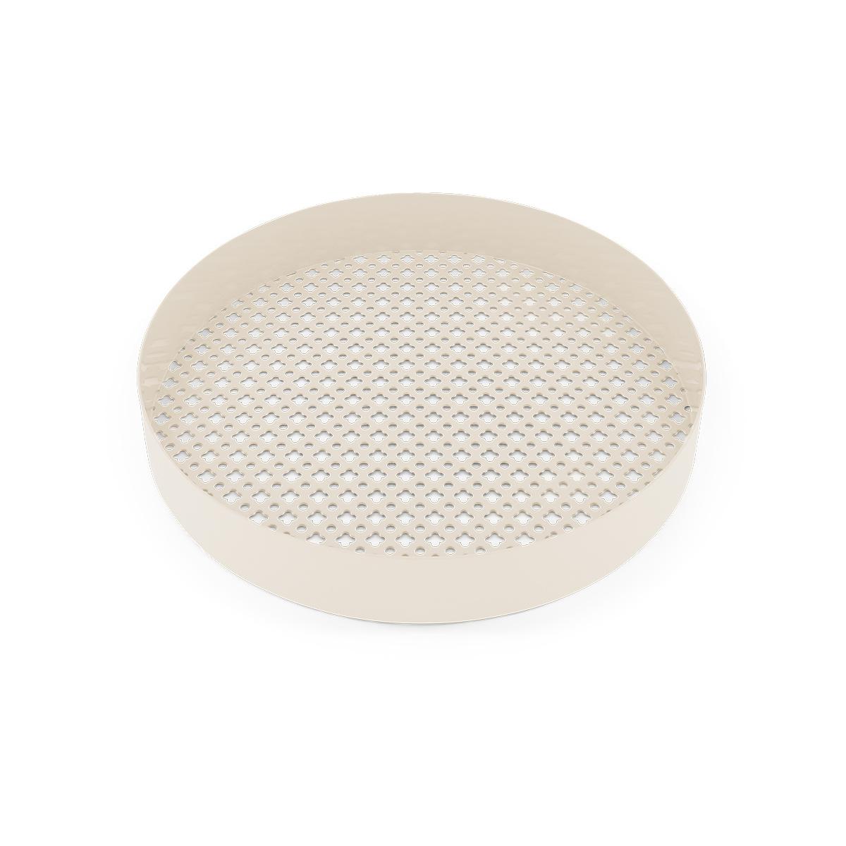 Plateau Matteo blanc crème